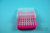 EPPi® Box 50 / 8x8 Löcher, neon-rot/pink, Höhe 52 mm fix, alpha-num....