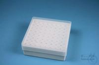 EPPi® Box 50 / 8x8 holes, white, height 52 mm fix, alpha-num. ID code, PP....