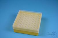 EPPi® Box 50 / 8x8 holes, yellow, height 52 mm fix, alpha-num. ID code, PP....