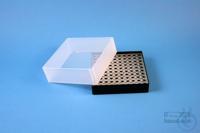 EPPi® Box 61 / 10x10 holes, black, height 61 mm fix, alpha-num. ID code, PP....
