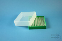 EPPi® Box 61 / 10x10 holes, green, height 61 mm fix, alpha-num. ID code, PP....