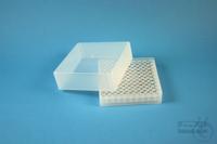 EPPi® Box 61 / 10x10 holes, natural, height 61 mm fix, alpha-num. ID code,...