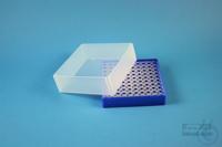 EPPi® Box 61 / 10x10 holes, neon-blue, height 61 mm fix, alpha-num. ID code,...