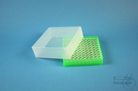 EPPi® Box 61 / 10x10 holes, neon-green, height 61 mm fix, alpha-num. ID code,...