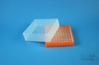 EPPi® Box 61 / 10x10 holes, neon-orange, height 61 mm fix, alpha-num. ID...