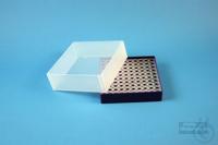 EPPi® Box 61 / 10x10 holes, violet, height 61 mm fix, alpha-num. ID code, PP....