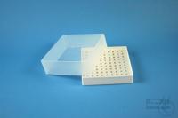 EPPi® Box 61 / 10x10 holes, white, height 61 mm fix, alpha-num. ID code, PP....