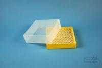 EPPi® Box 61 / 10x10 holes, yellow, height 61 mm fix, alpha-num. ID code, PP....