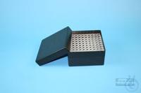 EPPi® Box 70 / 10x10 holes, black/black, height 70-80 mm variable, alpha-num....