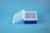 EPPi® Box 70 / 10x10 Löcher, neon-blau, Höhe 70-80 mm variabel, alpha-num....