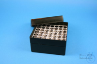 EPPi® Box 70 / 7x7 holes, black/black, height 70-80 mm variable, alpha-num....