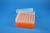 EPPi® Box 70 / 7x7 Löcher, neon-orange, Höhe 70-80 mm variabel, alpha-num....