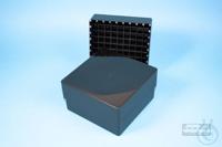EPPi® Box 75 / 9x9 divider, black/black, height 75 mm fix, alpha-num. ID...