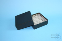 EPPi® Box 75 / 10x10 holes, black/black, height 75 mm fix, alpha-num. ID...