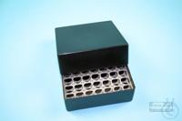 EPPi® Box 75 / 7x7 holes, black/black, height 75 mm fix, alpha-num. ID code,...