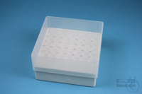 EPPi® Box 75 / 7x7 holes, white, height 75 mm fix, alpha-num. ID code, PP....