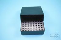 EPPi® Box 75 / 8x8 holes, black/black, height 75 mm fix, alpha-num. ID code,...
