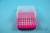 EPPi® Box 75 / 8x8 Löcher, neon-rot/pink, Höhe 75 mm fix, alpha-num....