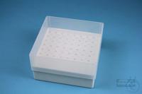 EPPi® Box 75 / 8x8 holes, white, height 75 mm fix, alpha-num. ID code, PP....