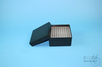 EPPi® Box 80 / 10x10 holes, black/black, height 80 mm fix, alpha-num. ID...
