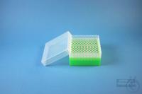 EPPi® Box 80 / 10x10 holes, neon-green, height 80 mm fix, alpha-num. ID code,...