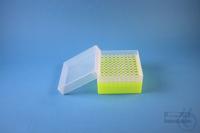 EPPi® Box 80 / 10x10 holes, neon-yellow, height 80 mm fix, alpha-num. ID...