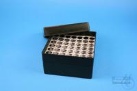 EPPi® Box 80 / 7x7 holes, black/black, height 80 mm fix, alpha-num. ID code,...