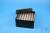 EPPi® Box 80 / 7x7 Löcher, black/black, Höhe 80 mm fix, alpha-num. Codierung,...