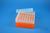 EPPi® Box 80 / 7x7 Löcher, neon-orange, Höhe 80 mm fix, alpha-num. Codierung,...