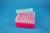EPPi® Box 80 / 7x7 Löcher, neon-rot/pink, Höhe 80 mm fix, alpha-num....