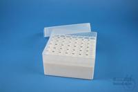 EPPi® Box 80 / 7x7 holes, white, height 80 mm fix, alpha-num. ID code, PP....
