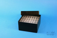 EPPi® Box 80 / 8x8 holes, black/black, height 80 mm fix, alpha-num. ID code,...