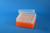 EPPi® Box 80 / 8x8 Löcher, neon-orange, Höhe 80 mm fix, alpha-num. Codierung,...