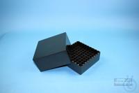 EPPi® Box 95 / 9x9 divider, black/black, height 95 mm fix, alpha-num. ID...