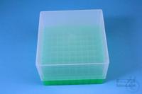 EPPi® Box 95 / 9x9 divider, neon-green, height 95 mm fix, alpha-num. ID code,...