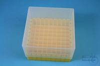 EPPi® Box 95 / 9x9 divider, yellow, height 95 mm fix, alpha-num. ID code, PP....