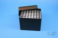EPPi® Box 96 / 7x7 holes, black/black, height 96-106 mm variable, alpha-num....