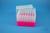 EPPi® Box 96 / 7x7 Löcher, neon-rot/pink, Höhe 96-106 mm variabel, alpha-num....