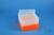 EPPi® Box 96 / 8x8 Löcher, neon-orange, Höhe 96-106 mm variabel, alpha-num....