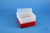 EPPi® Box 96 / 8x8 Löcher, rot, Höhe 96-106 mm variabel, alpha-num....
