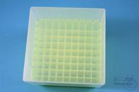 EPPi® Box 95 / 9x9 divider, neon-yellow, height 95 mm fix, alpha-num. ID...