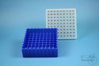EPPi® Box 50 / 9x9 divider, neon-blue, height 52 mm fix, alpha-num. ID code,...