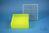 EPPi® Box 50 / 9x9 divider, neon-yellow, height 52 mm fix, alpha-num. ID...