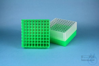 EPPi® Box 75 / 9x9 divider, neon-green, height 75 mm fix, alpha-num. ID code,...