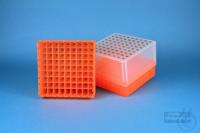 EPPi® Box 95 / 9x9 divider, neon-orange, height 95 mm fix, alpha-num. ID...