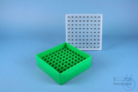 EPPi® Box 45 / 9x9 divider, green, height 45-53 mm variable, alpha-num. ID...
