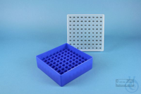 EPPi® Box 45 / 9x9 divider, neon-blue, height 45-53 mm variable, alpha-num....