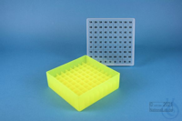 EPPi® Box 45 / 9x9 divider, neon-yellow, height 45-53 mm variable, alpha-num....