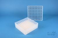 EPPi® Box 50 / 9x9 divider, natural, height 52 mm fix, alpha-num. ID code,...