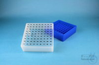 EPPi® Box 75 / 9x9 divider, neon-blue, height 75 mm fix, alpha-num. ID code,...